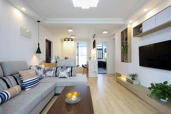 白墙客厅装修效果图