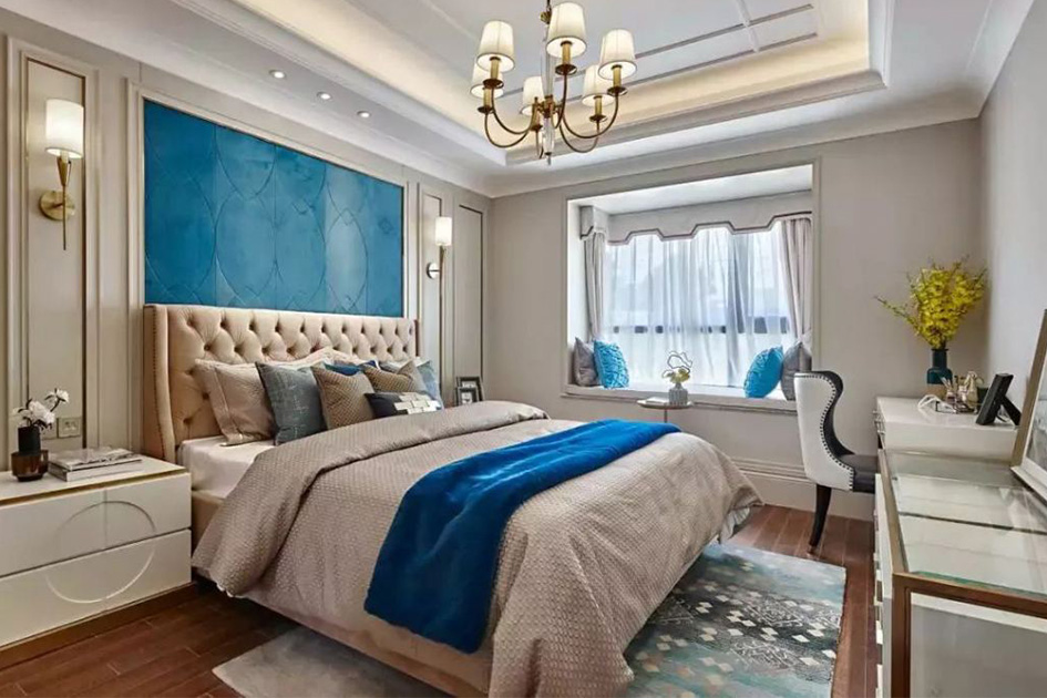 卧室窗帘颜色搭配