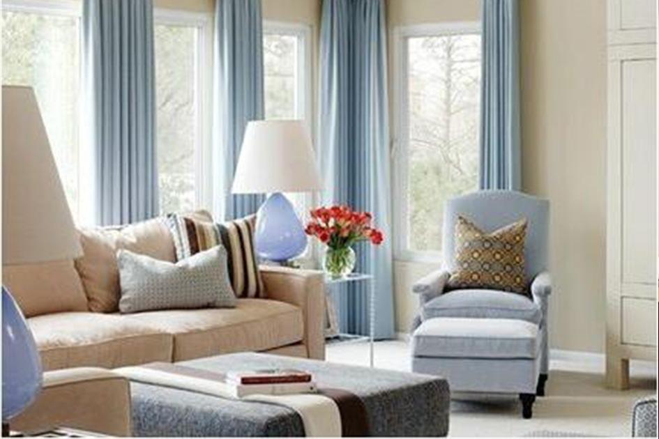 客厅窗帘装修效果图