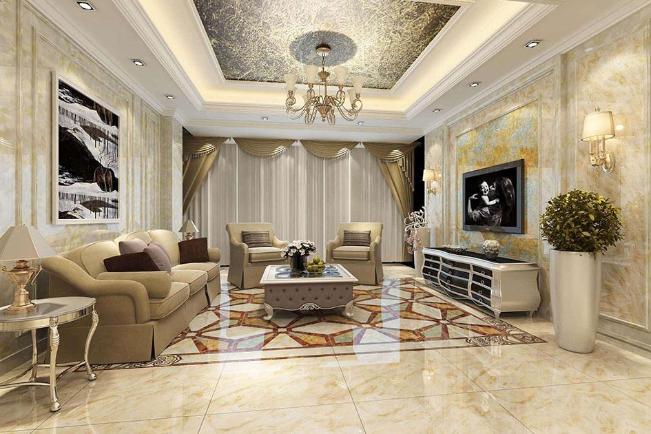 客厅瓷砖颜色