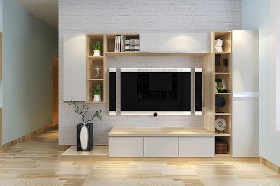 旧房电视墙改造