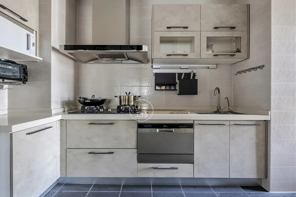 厨房装修黑白图