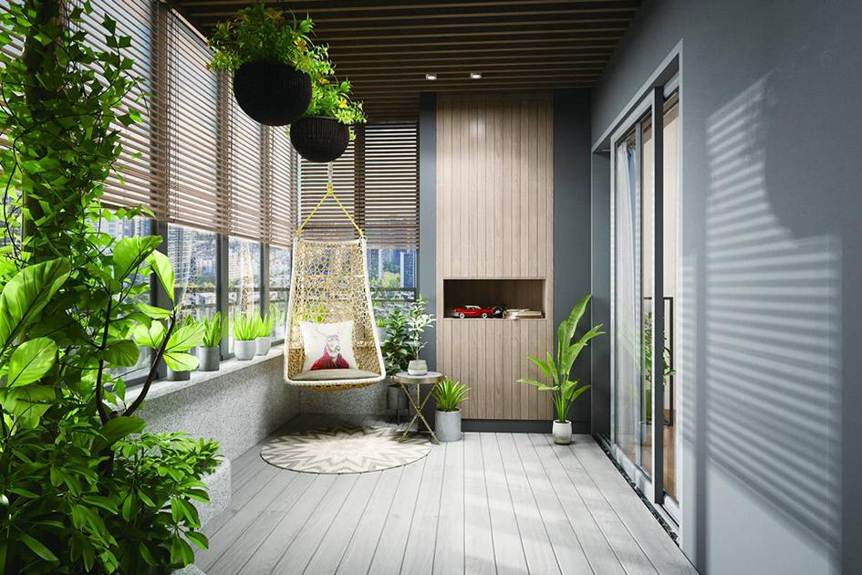 阳台花园布置