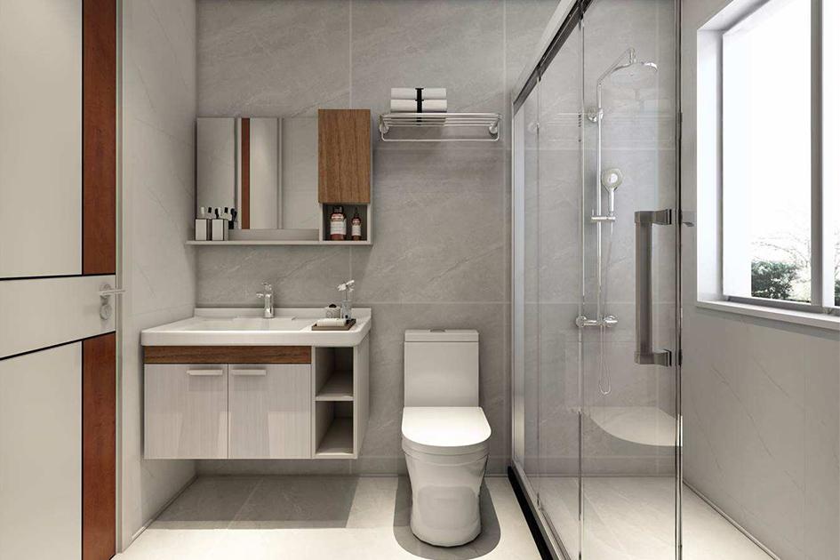 旧房翻新浴室瓷砖装修