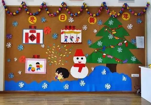 幼儿园手工墙