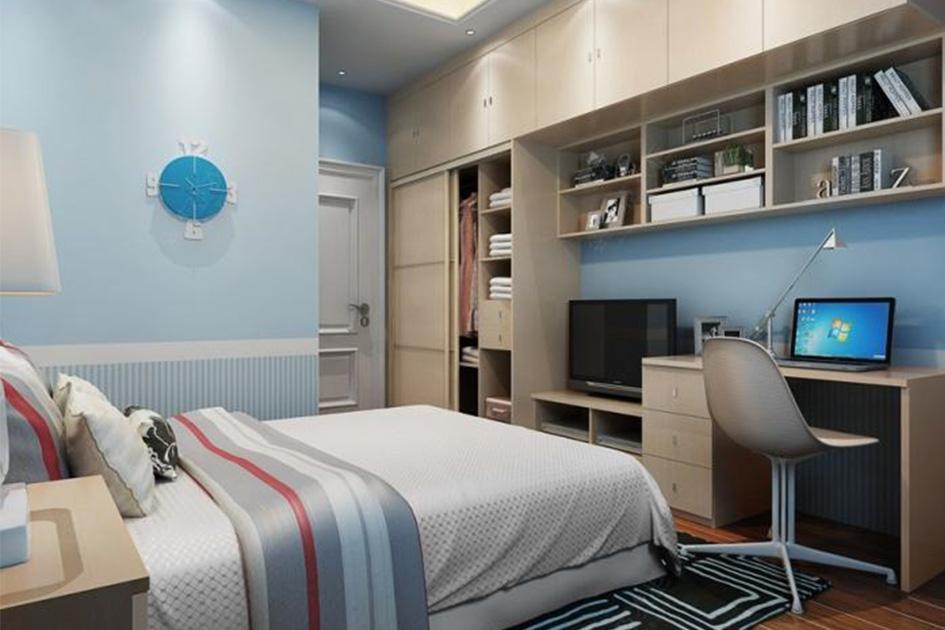 卧室书房一体设计