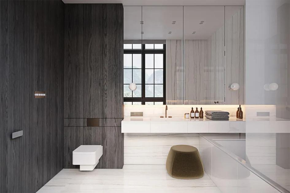 卫生间地砖和墙砖颜色搭配