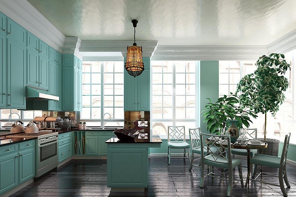 厨房装修什么颜色好看