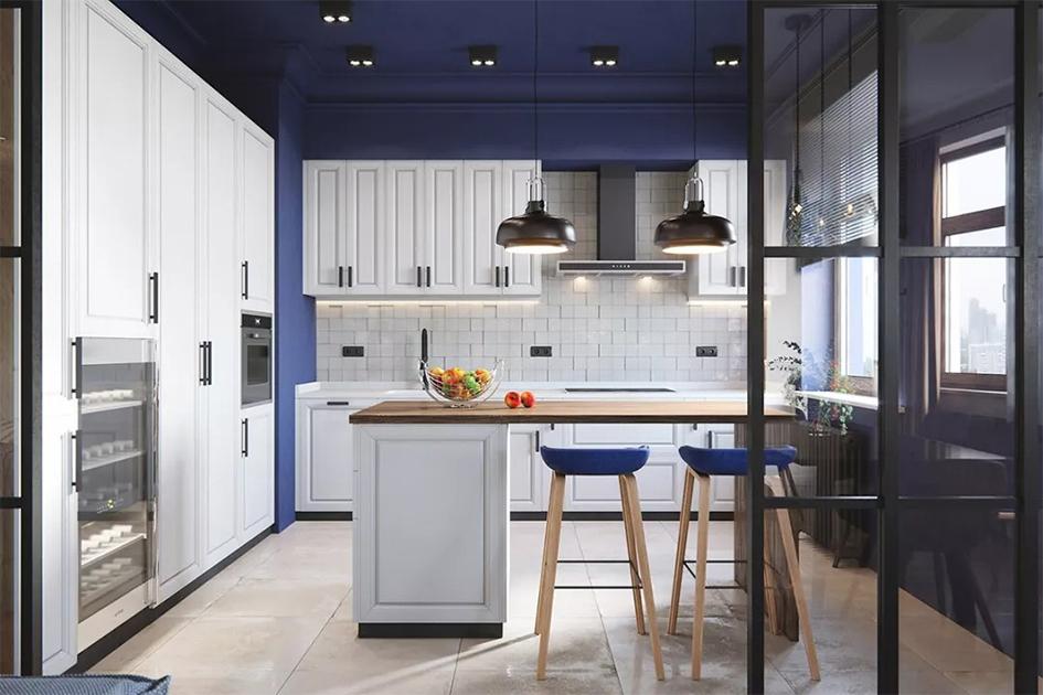 半开放式厨房设计