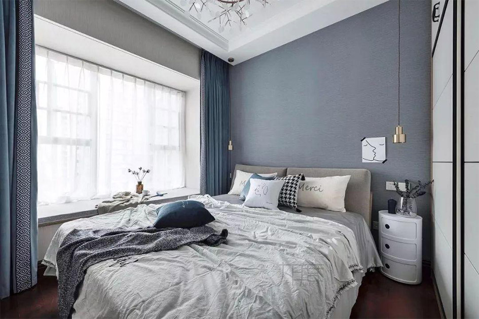 卧室窗帘什么颜色好